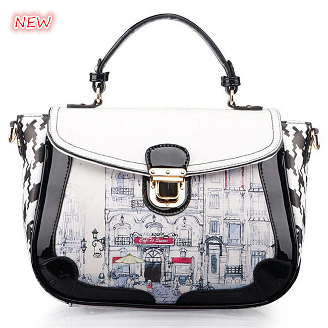 ФОТО New printed women handbag 2015 summer fashion shoulder bag hot women tote vintage institute wind parcel women messenger bags
