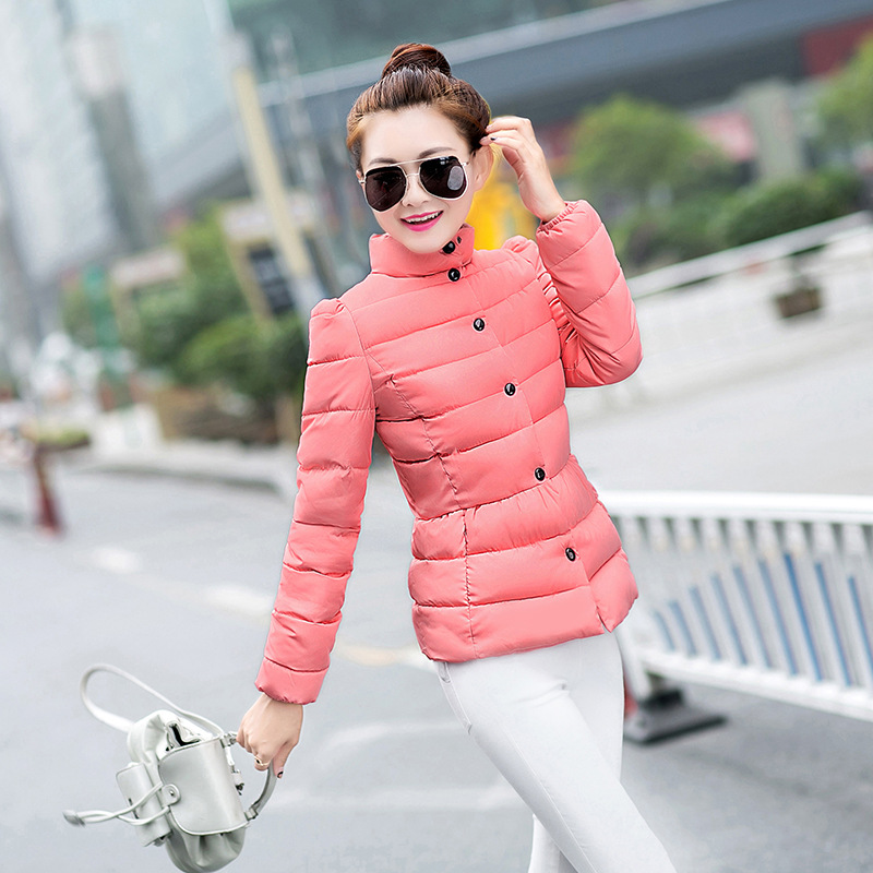 2016 Womens Winter Cotton-padded Clothes New Han Edition Cultivate One's Morality Collar Short Jacket Cotton-padded Jacket цена 2016