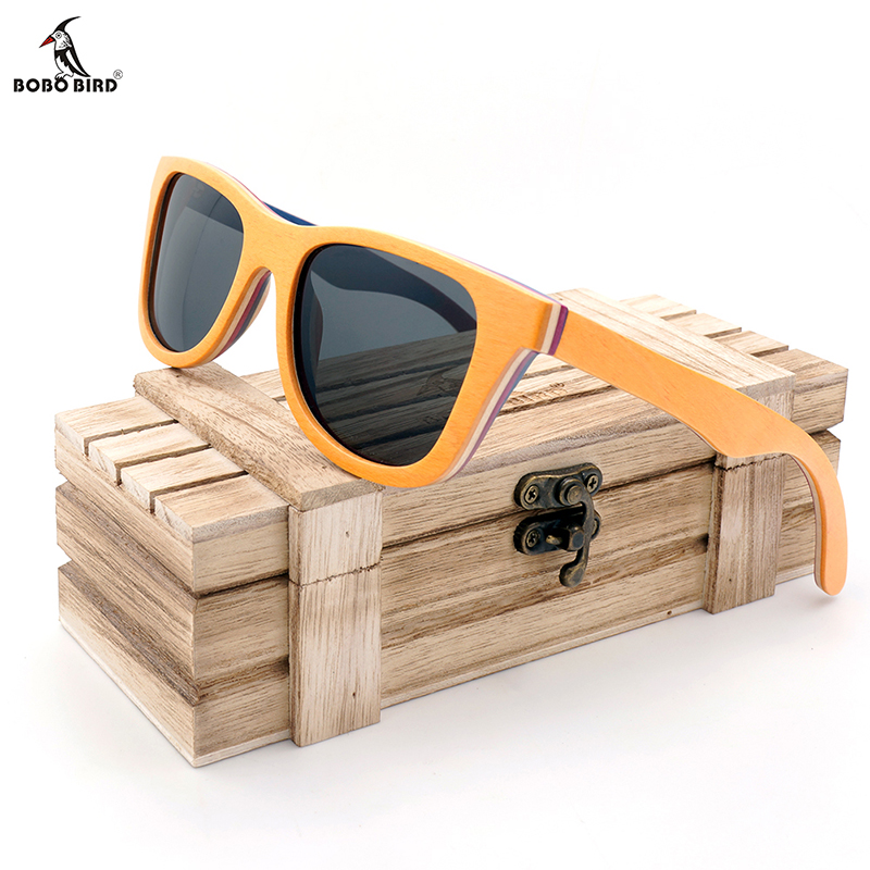 47d6d4aec Detail Feedback Questions about BOBO BIRD Men Wood Sunglasses Women Retro  Vintage Polarized Skateboard Wooden Glasses Oculos De Sol Big Square With  Wood box ...