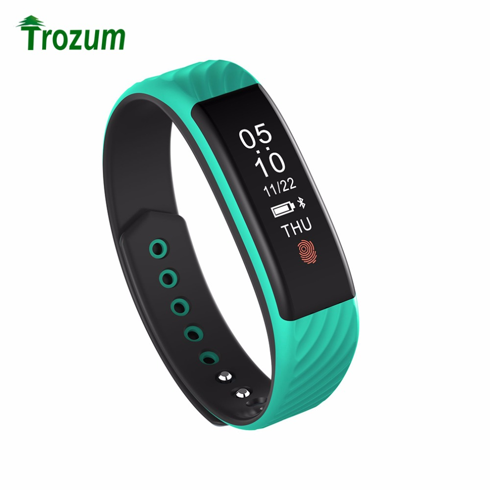 TROZUM New Bluetooth 4 0 W810 smart bracelet Support Pedometer Heart Rate Tracking Smartband for Android