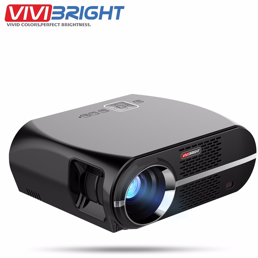 VIVIBRIGHT GP100 UP LED Projector Android 6.0.1 1280x800 3200 Lumens WIFI Bluetooth Home Theater Projector 1080p HD Movie Beamer цена