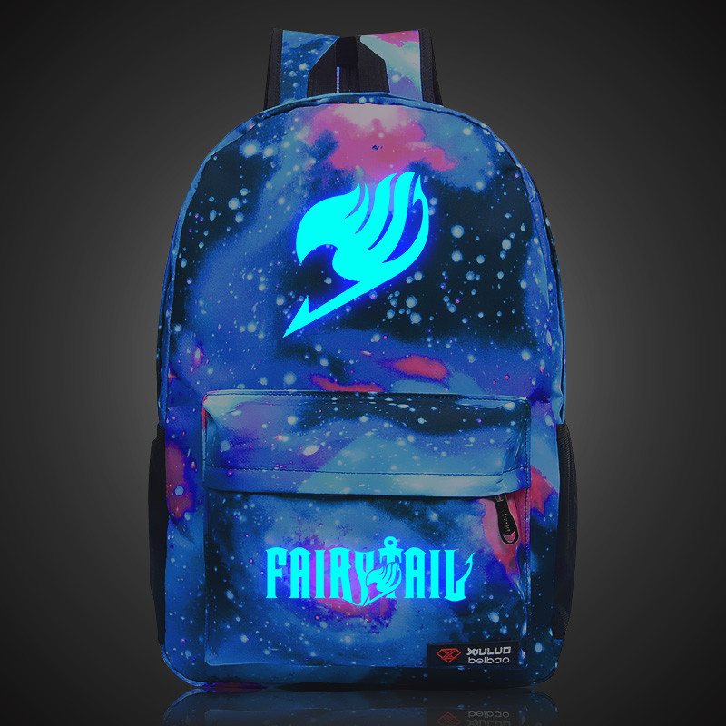 Harajuku Fairy Tail Stars Universe Space Printing Shoulder Bags Men's Women's Backpacks Teenagers Students Rucksack Schoolbag  free shipping korean version candy colors fairy tail logo printing man woman canvas schoolbag red green black blue backpacks