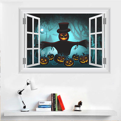 3D Halloween Ghost Vinyl Wall Decal Removable Stickers Home Halloween Party Decor pumpkin scary wall sticker for Halloween -in Wall Stickers from Home ... & 3D Halloween Ghost Vinyl Wall Decal Removable Stickers Home ...