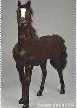 WYZHY  Production and sales 1:6 sweat horse simulation fur animal war military ornament decoration 36X34CM