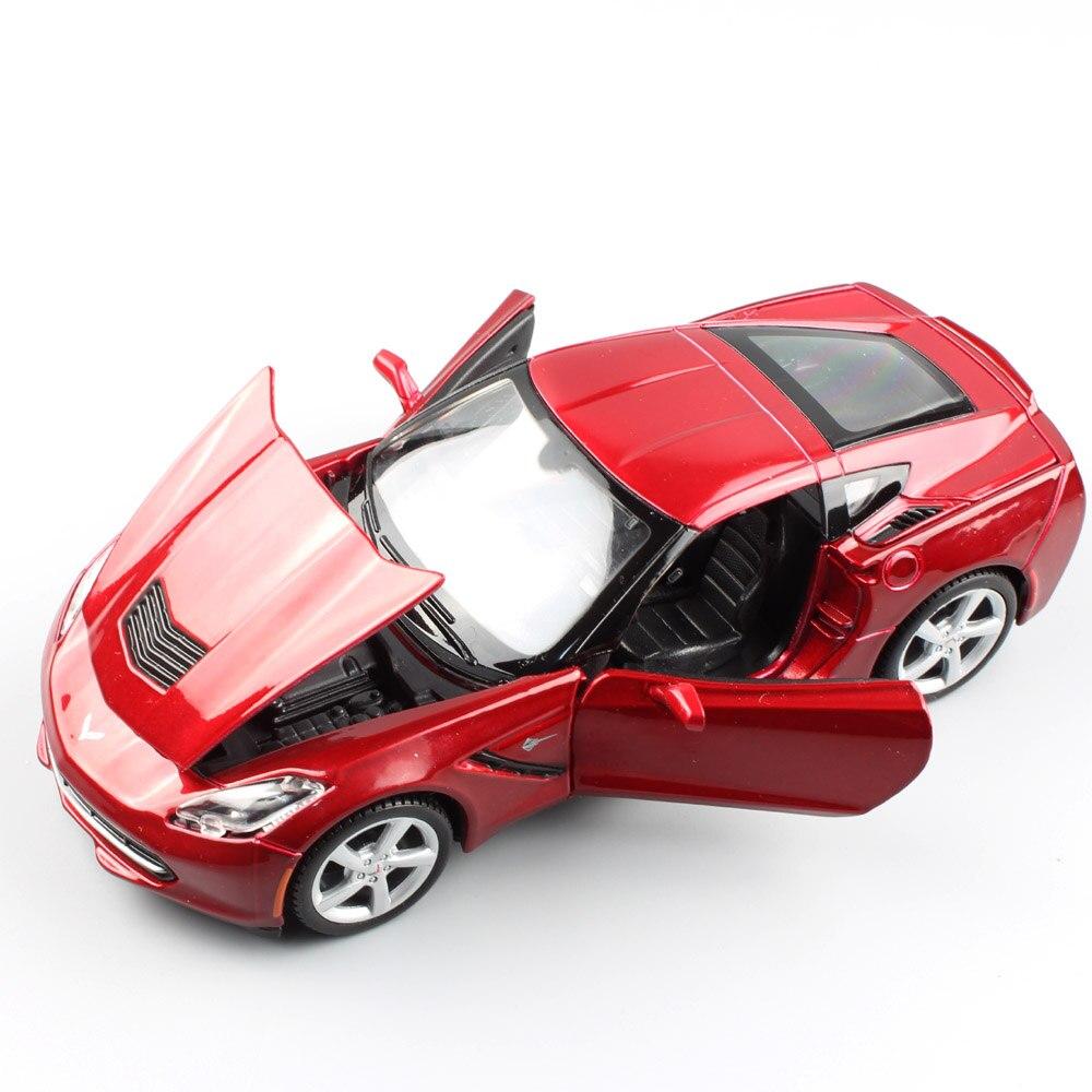 1/24 Échelle mini Maisto Chevrolet Corvette C7 Stingray coupé 2014 sport auto voiture en métal moulé sous pression modèle jouet voiture miniatures adultes