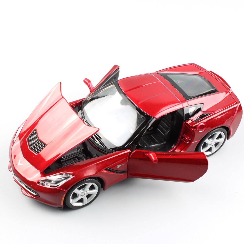 1/24 Scale mini Maisto Chevrolet Corvette C7 Stingray coupe 2014 sports auto car metal die cast model toy car miniatures adults игрушка jada 2009 corvette stingray concept 84210 1