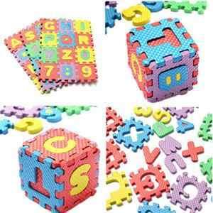 36 ピース/セットパズル Eva フォームマットアルファベット文字数字パズル子供の知能開発風呂水フローティングおもちゃホット