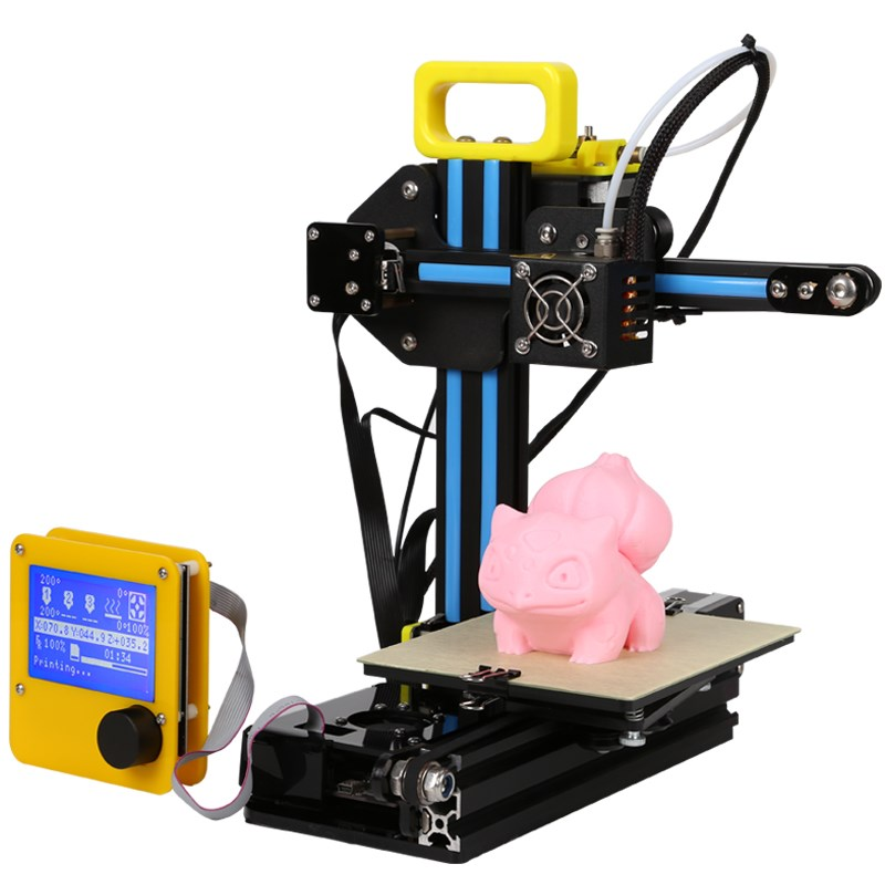 CREALITY 3D 2017 Newest Aluminium Mini 3 D Printer CR-7 3D printer Kit DIY Easy To Carry With 12864LCD+filament Gift For Kids newest mini creality 3d full aluminium structure cheap mini cr 7 3 d printer diy kit easy assemble 3d printer filament sd card