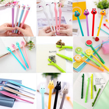Cartoon Gel Pen Creative Cute Cool Fresh Water-Based Carbon Signature Variety Optional Office School Supplies Stationery