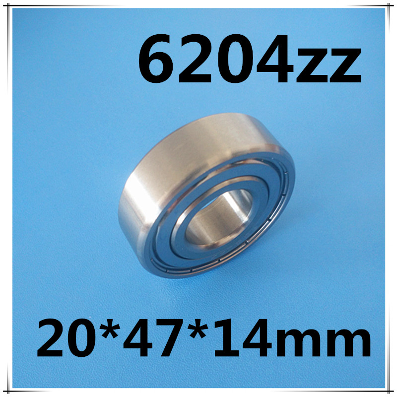 free shipping 6204 6204Z 6204zz 20*47*14mm Inner Diameter Single Row Shields Deep Groove Ball Bearing free shipping 6806 full si3n4 p5 abec5 ceramic deep groove ball bearing 30x42x7mm 61806 full complement