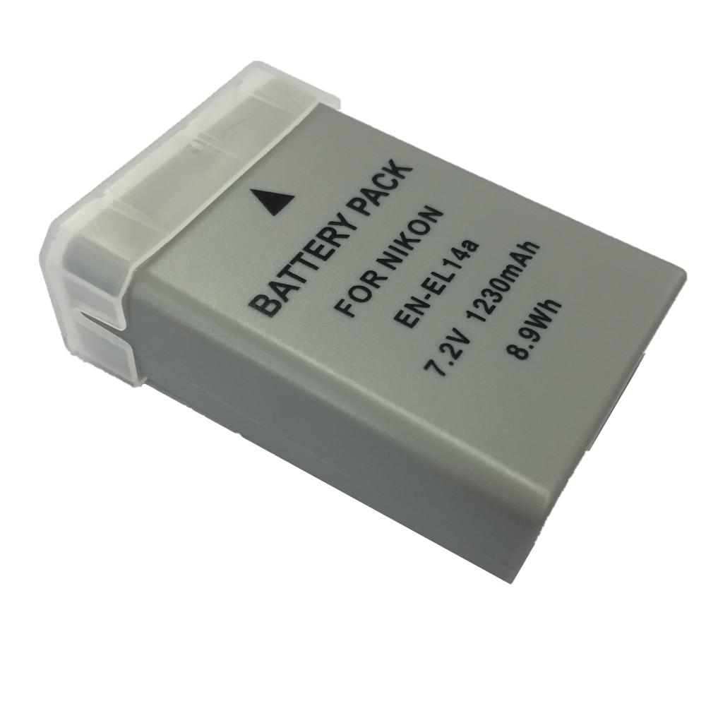 цена на EN-EL14a ENEL14 lithium batteries pack EN EL14a Digital camera battery For Nikon DF D5500 D5100 D3400 D3300 P7100 P7700 P7800