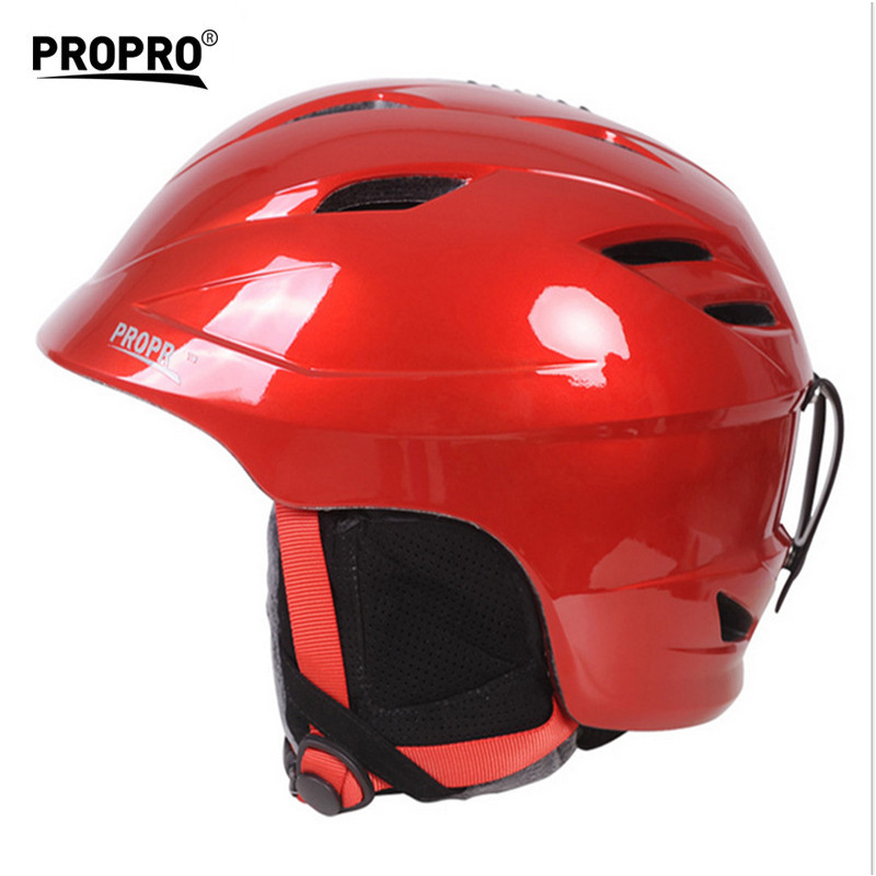 PROPRO Thermal Fleece Adult Skiing Helmet with APS+PC Material shockproof skateboard safe sports protector motorcycle helmets brim skiing snowboard helmet adults winter safe skating cap bike motorcycle helmet suitable for 57 61cm head protector safe hats