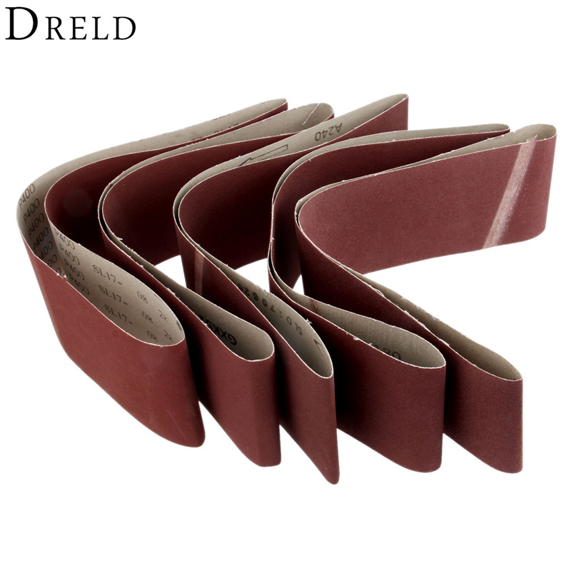 DRELD 1Pc 915*100mm Polishing Sanding Belt Abrasive Sanding Paper For Belt Sanders Bench Grinder 150/180/240/320/400 Grit