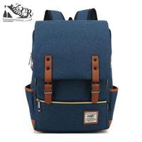 Men Vintage Casual Canvas Backpack For Women Organizer 20l Laptop Mochila 14 Inch Cover Boys Mochilas Mujer 90s Sac A Dos