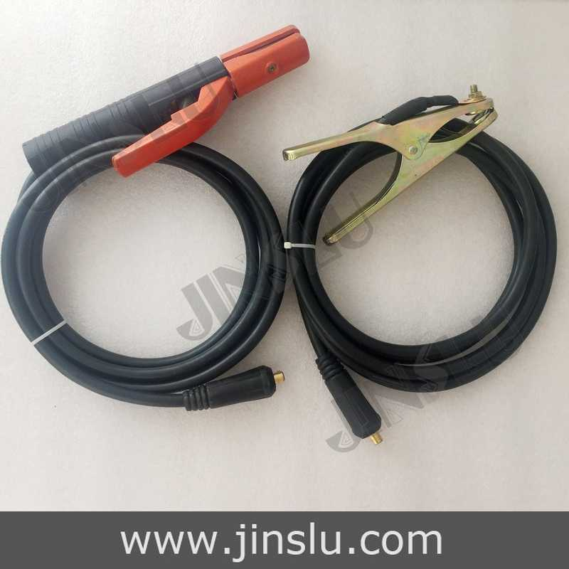 300A Electrode Holder Arc Welding Plug 35-50mm Lead Cable 3 Meter & 200A Earth Clamp 3M