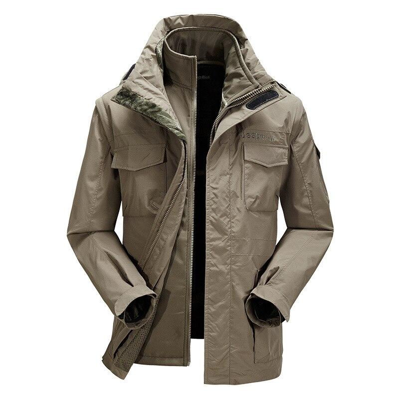 Dos-pieza SuitWaterproof Soft Shell Jacket Táctico Al Aire Libre Caza Deporte Ar