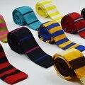 Moda Fundo Plano Magro 5 cm Fina Magro Listrado Nova Malha Tecida Gravata Gravata dos homens