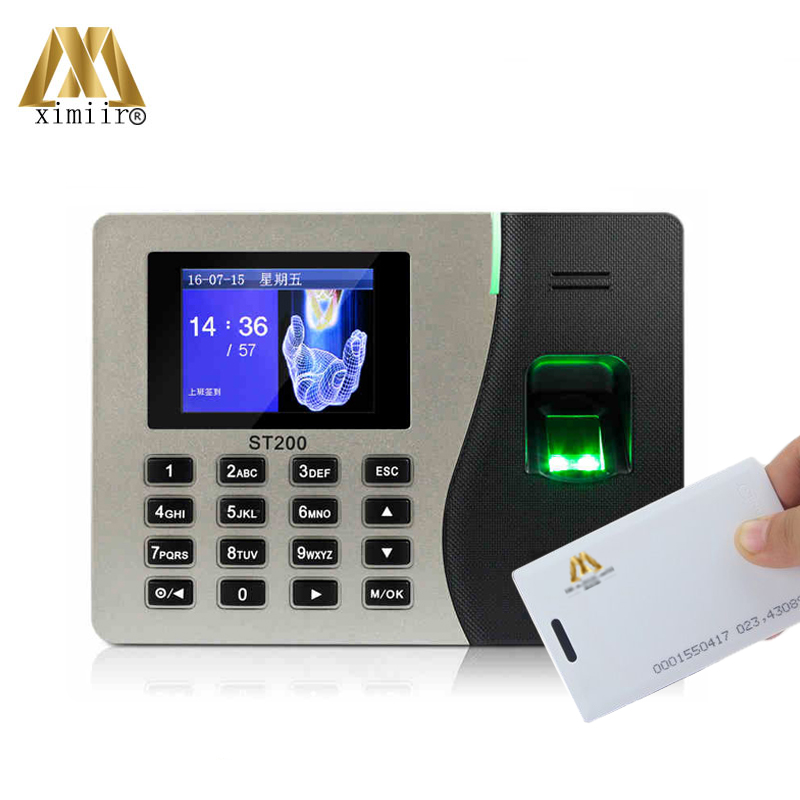 ZK ST200 With RFID Card TCP/IP USB Time Attendance Recorder Card Time Clock Biometric Fingerprint Time Attendance Machine