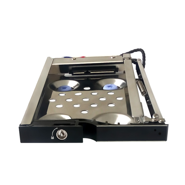 Anti-Vibration proof 2.5in single bay SATA internal Aluminum case Mobile rack