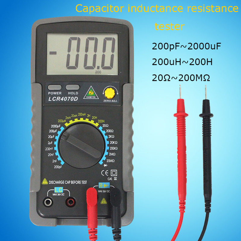 Professional Digital Multimeter LCR digital bridge Multimetro resistance meter Capacitance tester Inductance multimeter Meter lcr handheld 10khz digital bridge portable resistance inductance capacitance meter lq 9101 parallel pocket meter