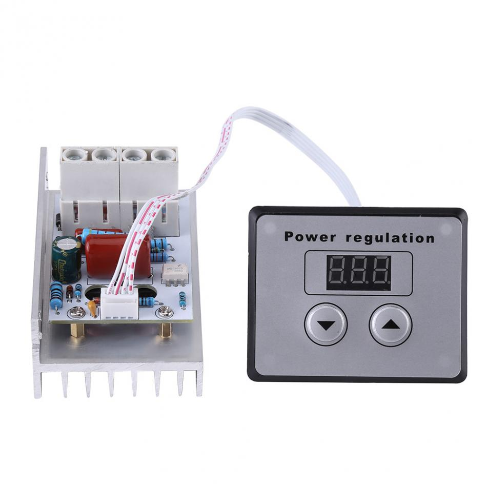 AC 220V 10000W 80A Digital Control SCR Electronic Voltage Regulator Speed Control Dimmer Thermostat + Digital Meters