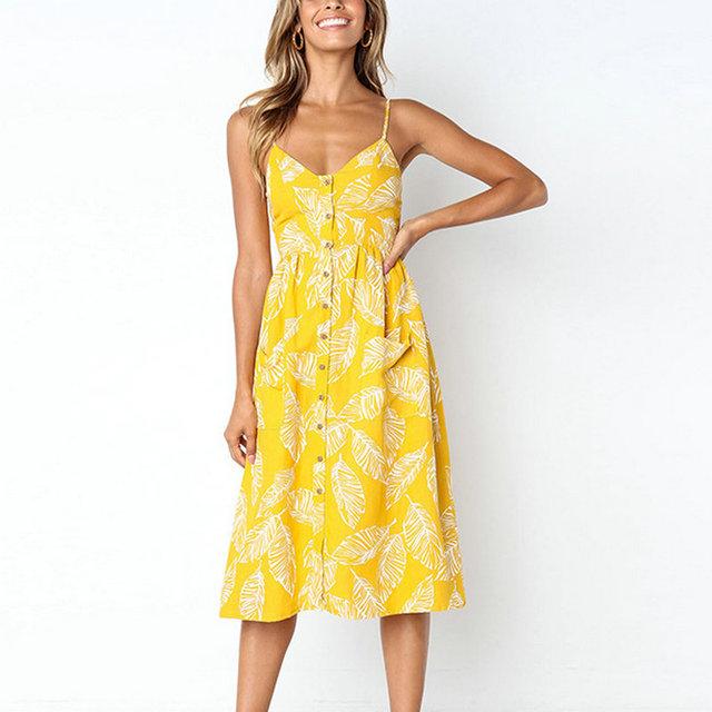 Vestidos alegres tipo túnica floral