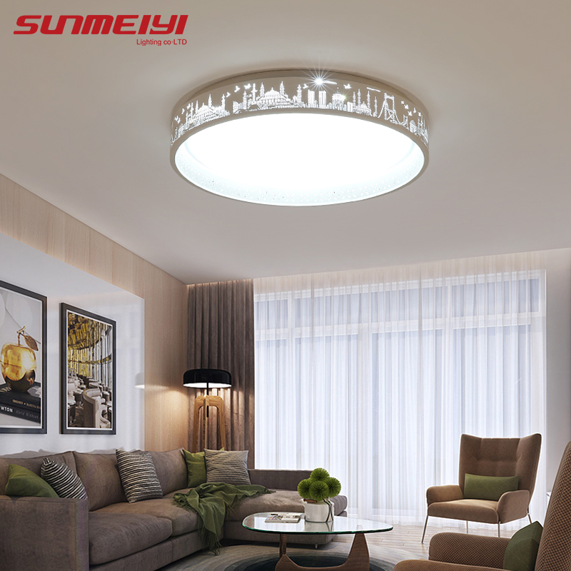 Modern Led Ceiling Lamps Creative Travel Pattern Design Led