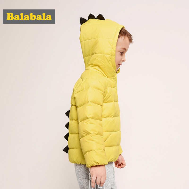 Balabala Kleinkind Junge 3D Dinosaurier Stepp Lighweight Unten Jacke Kinder Kind Mit Kapuze Puffer Jacke mit Full Zip in Chinlon Gefüttert