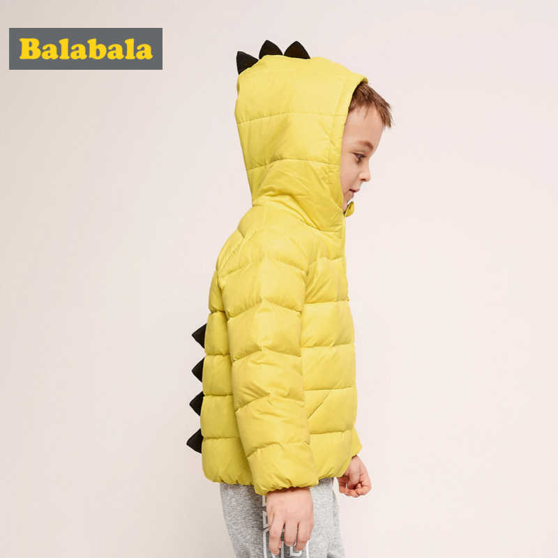 0b22a229ea Balabala Toddler Boy 3D Dinosaur Quilted Lighweight Down Jacket Children  Kid Hooded Puffer Jacket with Full Zip in Chinlon Lined