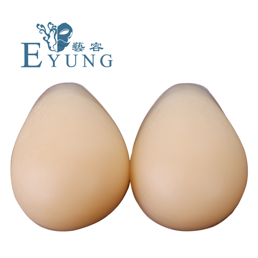 EYUNG False 1000g/pair Artificial Boobs C Cup Water Drop Breast Forms silicone breast insert Prosthesis crossdresser 800g c cup mastecotmy silicone prosthesis realistic breast false artificial crossdresser boobs