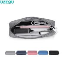 Waterproof Digital Storage Bag Mobile Phone Data Cable Charger Fingertips Package Zipper Portable Zip Lock Organizer case