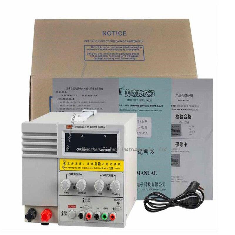 RPS6005D-2 avec 3.3 V/5 V/1A sortie fixe 0-60 V/5A alimentation cc numérique