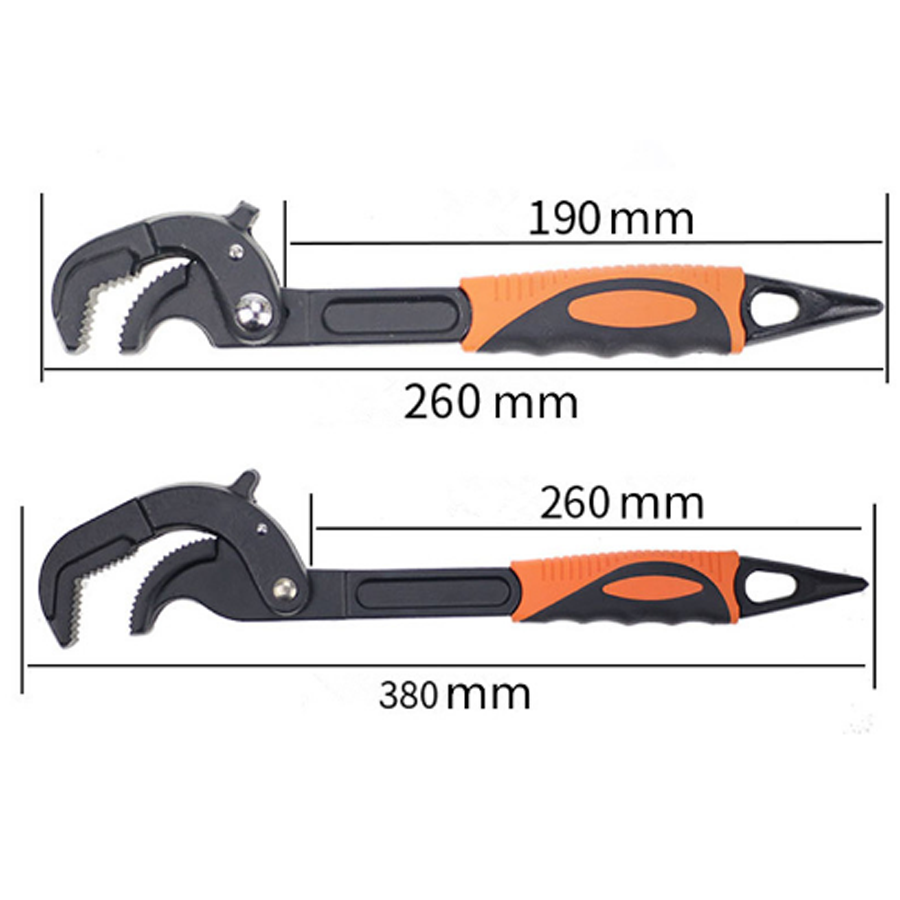 2 pcs/set portable multi-function universal socket adjustable pipe wrench set sparks key Allen wrench set autospanner