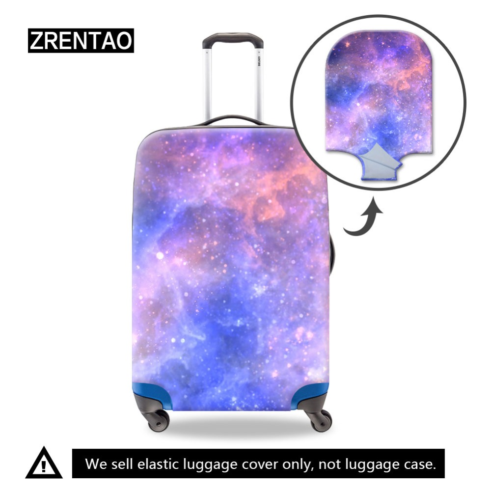 Galaxy Printing Dust Proof Small/Medium/Large Travel On Road Luggage Suitcase Protective Covers For Adult Children Vacation Case