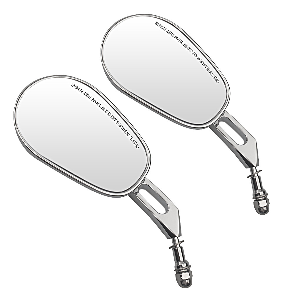 8MM Chrome Rear View Side Mirrors For Harley Street Bob FXDB Fat Boy Iron 883 XL883N
