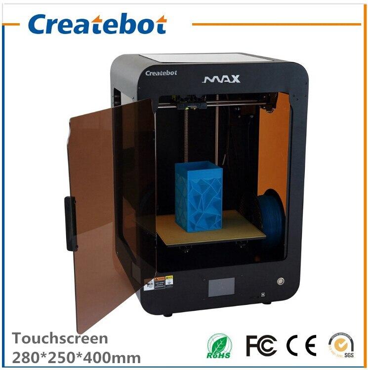 Color negro Max 3D Impresora con Pantalla Táctil de Doble Boquilla