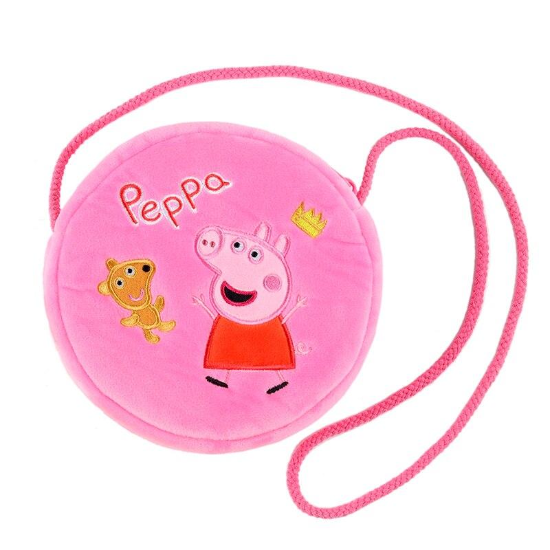9 Style Genuine New Original Peppa Pig George Pig Susie Purse Plush Toy Kawaii Kindergarten Bag Backpack Wallet Money School Bag 2