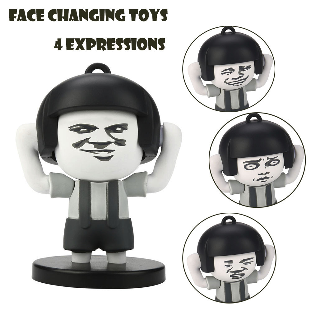 Novelty & Gag Toys Mushroom Head Face Toy Violent Funny Expression Trend Decompression Hand Key Chain One-key Expression Replacement Toy