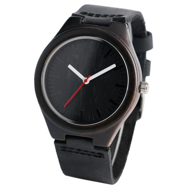 Cool bambou Natura bois montre cadran spécial hommes femmes montres mode en cuir véritable bande bracelet montre-bracelet 1
