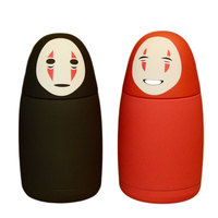 Originality Portable Japan Spirited Away Cartoon No Face Man Stainless Steel Vacuum Cup Lovely Korean Lover