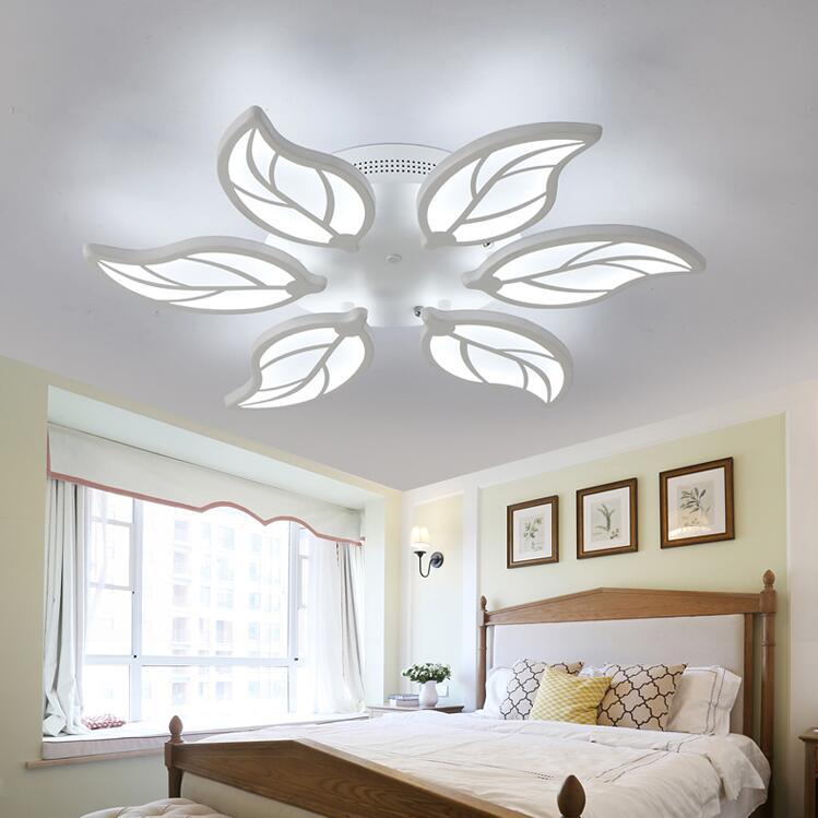 Nouveau Design Acrylique Feuilles Led plafond Lumières Pour Salon Salle D'étude Chambre lampe plafond avize plafond Intérieur lampe Livraison Gratuite