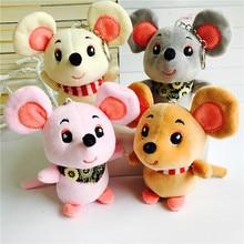 Cute Little Mouse Doll Plush Mini Yarn Skirt Ratchet Keychain Stuffed Animal Child Bag Hanging Ornaments