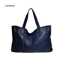 Heißer verkauf Großer kapazität mode natürliche rindsleder handtaschen großen tasche frauen casual taschen schulter