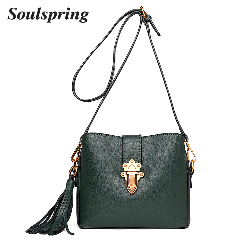 High Quality Genuine Leather Messenger Bag Women Crossbody Bags Female Fashion Tassel Bag 100% Cow Leather Handbags Sac A Main women genuine leather messenger bags sac a main shoulder bags women crossbody bag ladies high quality cow leather handbags