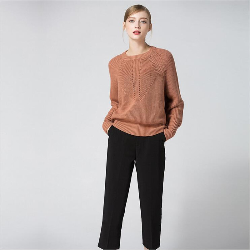 All Occasion Match Women Pullover Sweater Women Sweater Fashion Long Sleeve O-neck Twist Knitted Christmas Sweaters