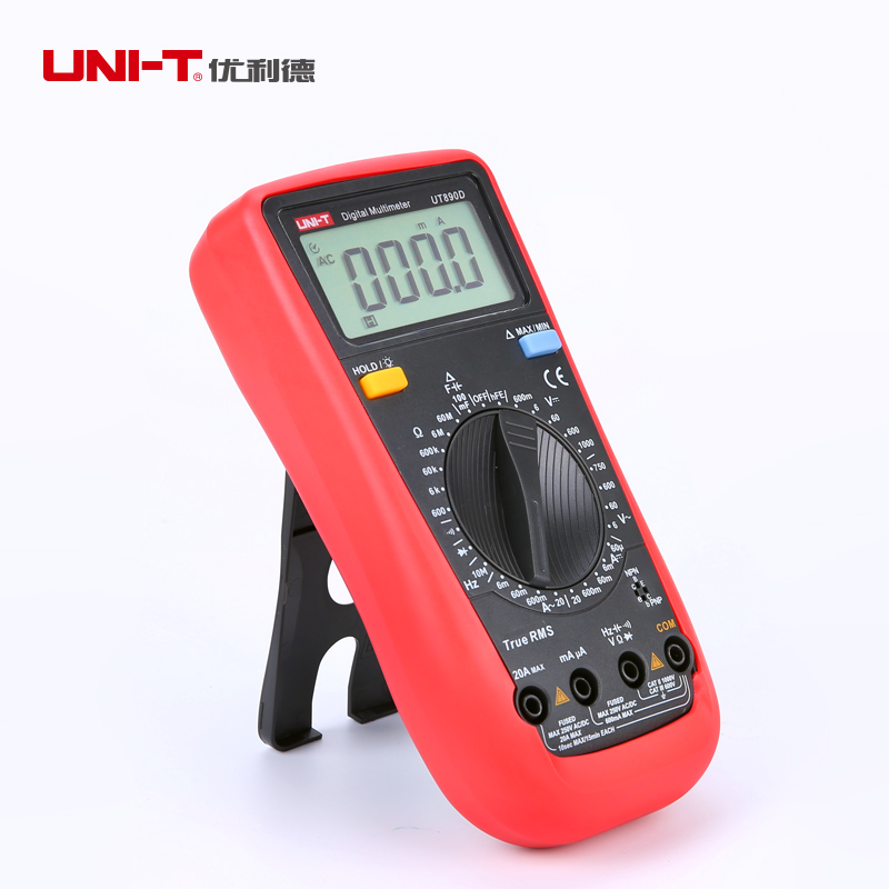 UNI-T Digital Multimeter True RMS AC DC Frequency Voltage Current Resistance Meter LCD Multimeter Ammeter Multitester Test Leads