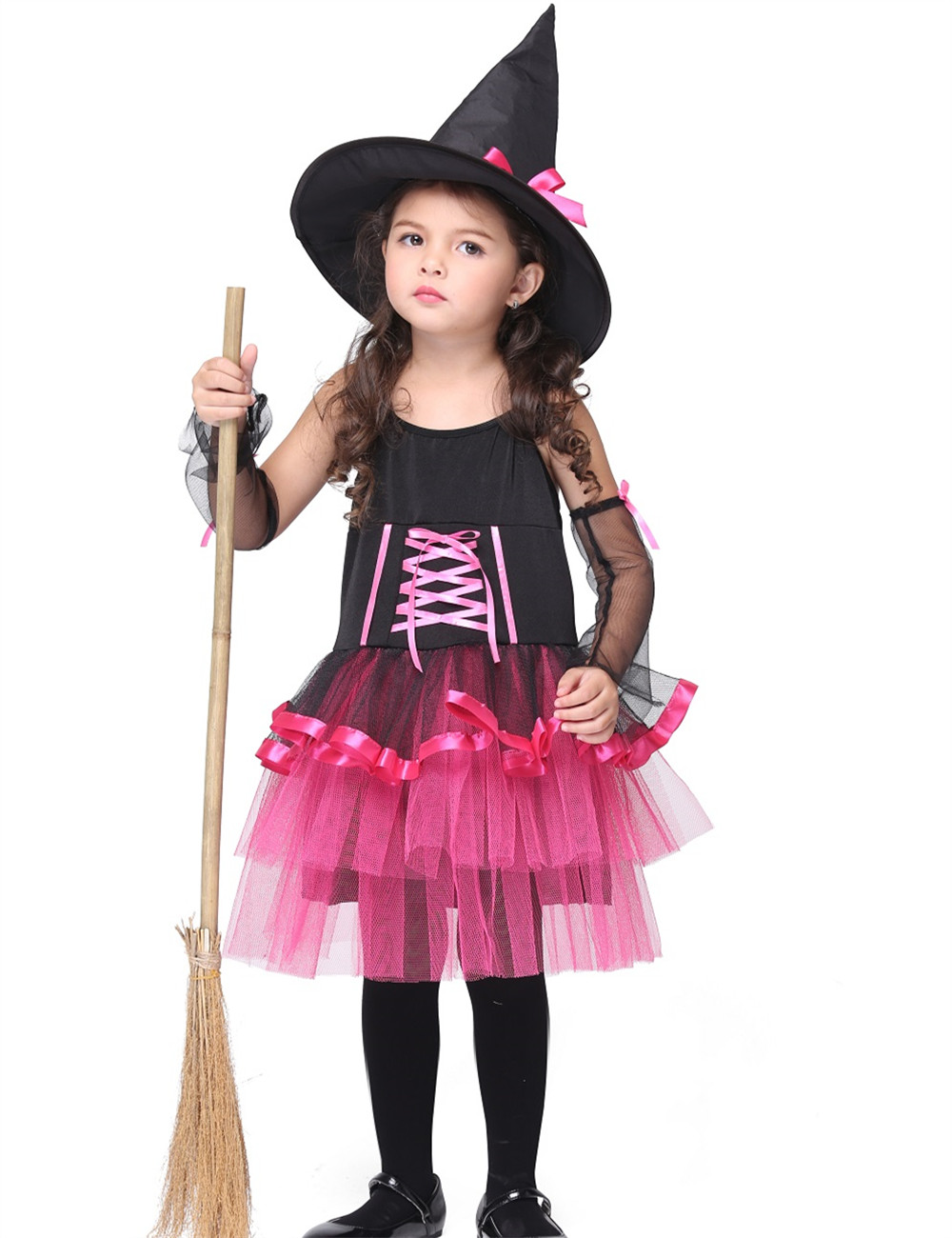 girl witch costume children halloween costume for kids stage & dance