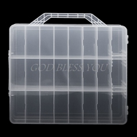 Pro 48 Lattice Nail Polish Holder Display Container Organizer Storage Box Case Showing Shelf