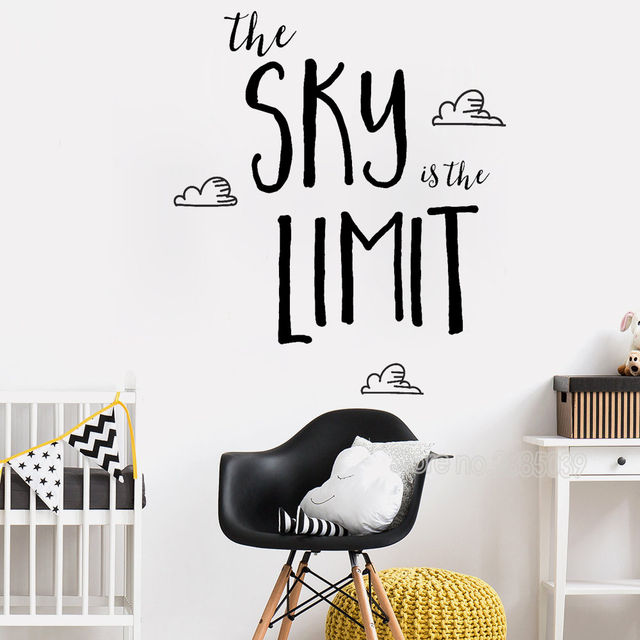 Love inspirational wall sticker sky is the limit art family baby nursery kids children bedroom decor