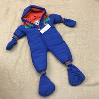 2018 New baby winter rompers infant Waterproof and windproof clothing boy girl thicken outwear one pieces blue body suits 0 2y
